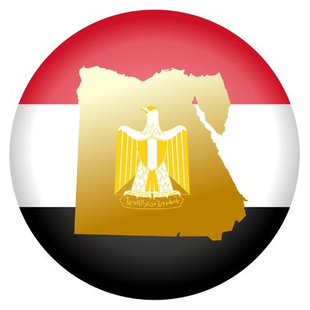 button in national colours of Egypt Vector