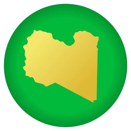 libya: button in national colours of Libya