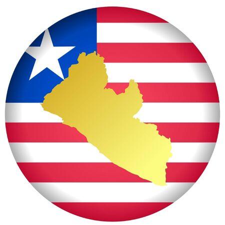 liberia: button in national colours of Liberia
