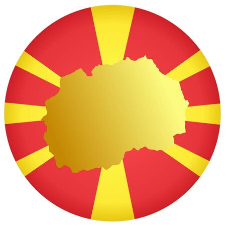 macedonia: button in national colours of Macedonia