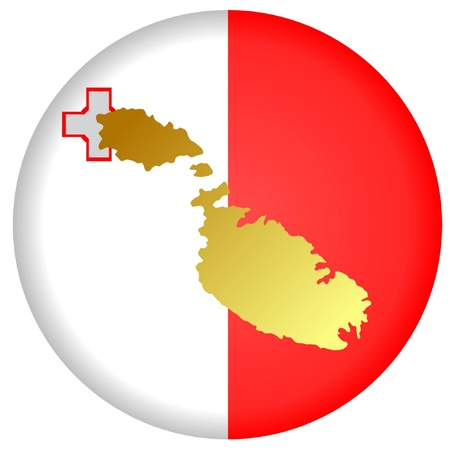 button in national colours of Malta