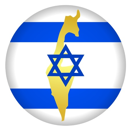 button in national colours of Israel Vector