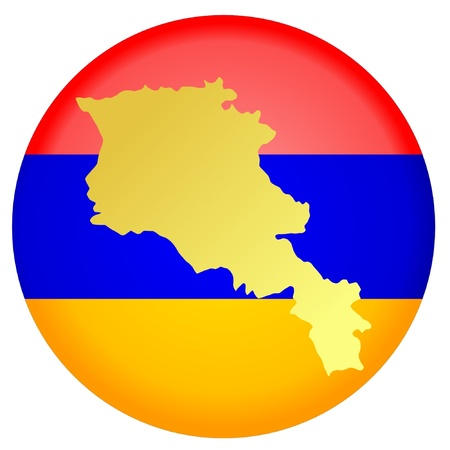 map of armenia: button in national colours of Armenia