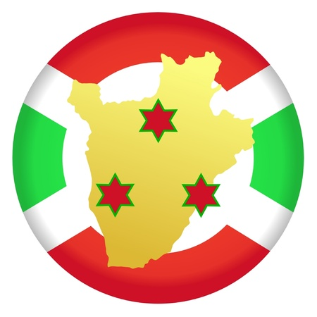 button in national colours of Burundi Vector