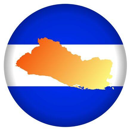 button in national colours of El Salvador Vector