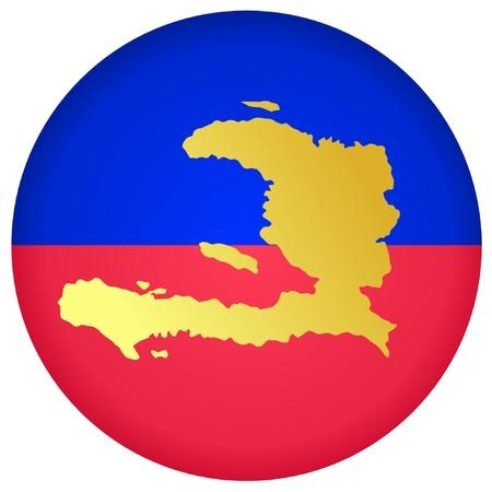 haiti: button in national colours of Haiti