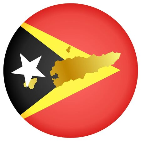 button in national colours of East Timor Vector