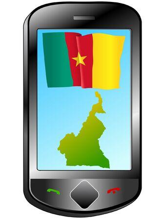 cameroon: Collegamento con il Camerun Vettoriali