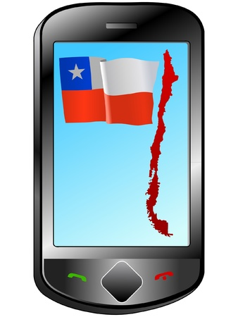 Connection with Chile Vector