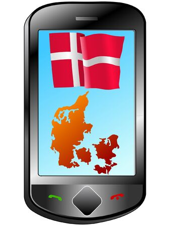 Connection with Denmark Stock Vector - 11833140