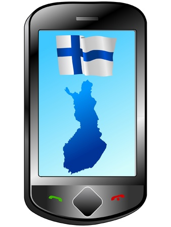 Connection with Finland Stock Vector - 11833138