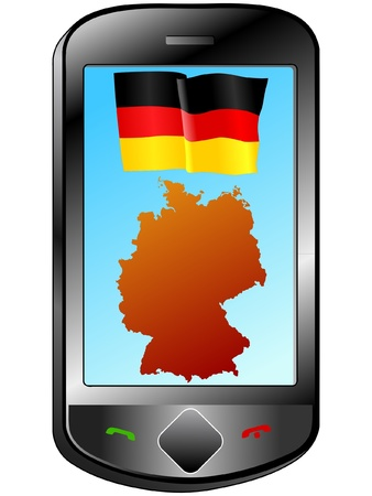 Connection with Germany Vector