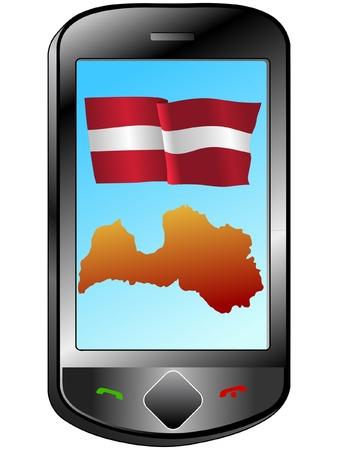 latvia: Connection with Latvia Illustration