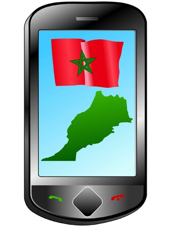 Connection with Morocco Stock Vector - 11833064