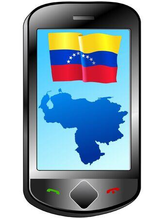 Connection with Venezuela Stock Vector - 11833141