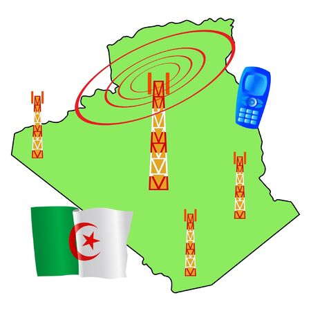 mobile connection of Algeria Vector