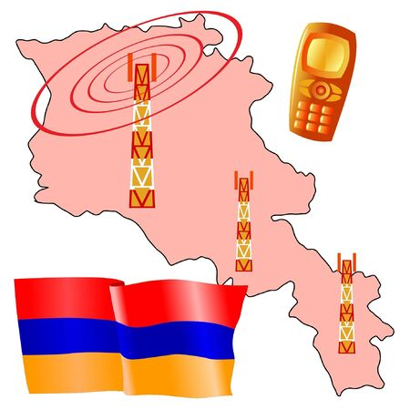 map of armenia: mobile connection of Armenia