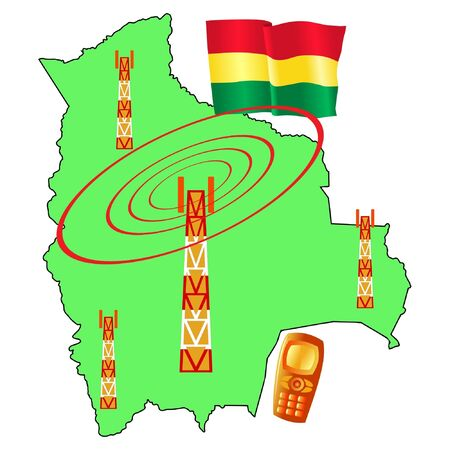 roaming: mobile connection of Bolivia Illustration
