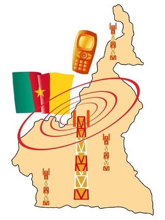 cameroon: mobile connection of Cameroon