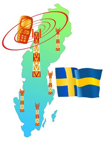 roaming: mobile connection of Sweden