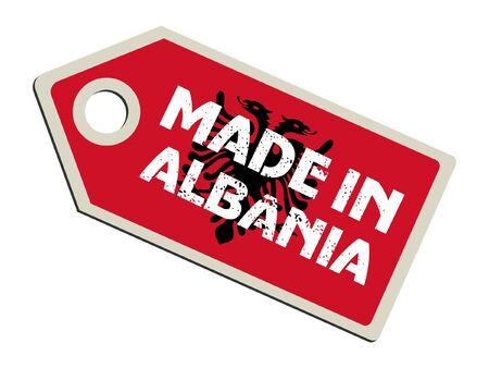 albanie: Fabriqu� en Albanie Illustration