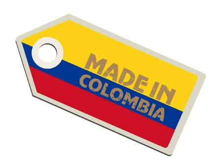 la bandera de colombia: Hecho en Colombia Vectores