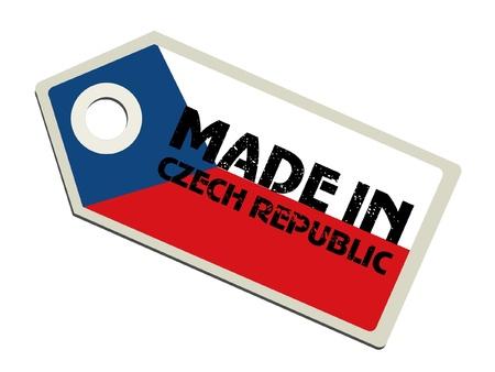 czech republic: Made in Czech Republic Illustration