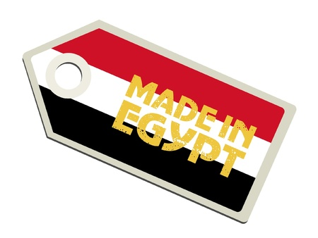 bandera de egipto: Hecho en Egipto Vectores