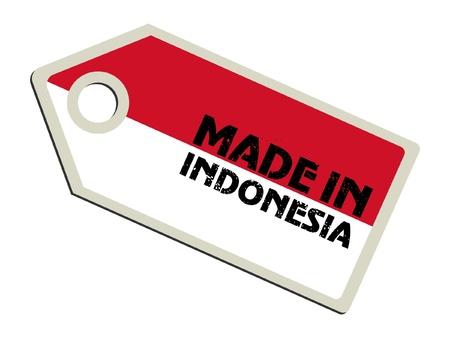 indonesien: Made in Indonesien Illustration
