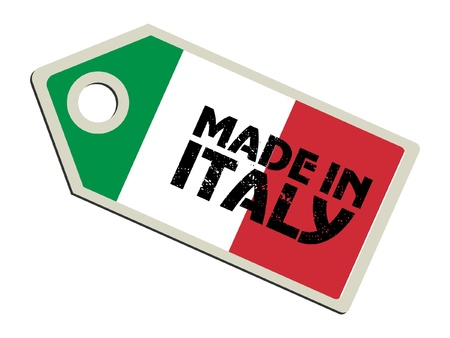 italia bandera: Made in Italy Vectores