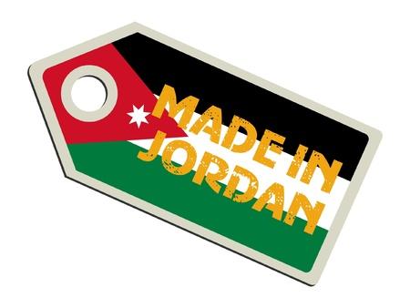 jordanian: Made in Jordanië Stock Illustratie