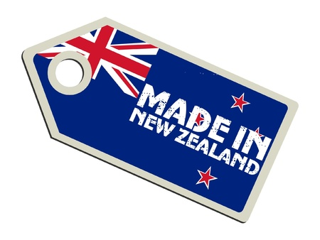 bandera de nueva zelanda: Hecho en Nueva Zelanda Vectores