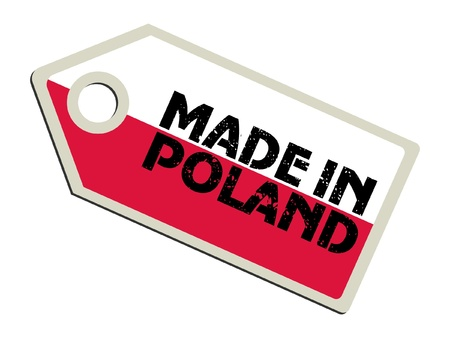 poland flag: Made in Poland Illustration
