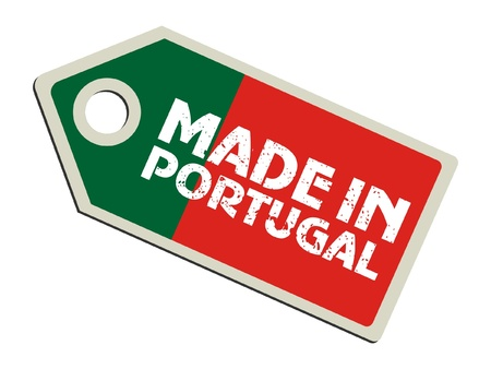 drapeau portugal: Fabriqu� au Portugal Illustration