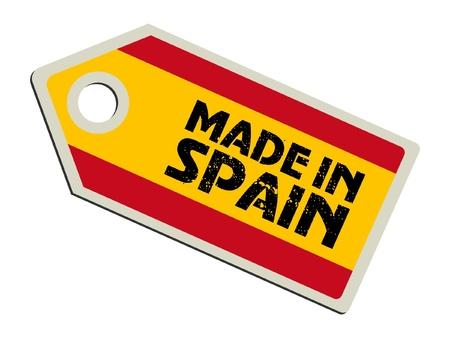 spain flag: Made in Spain