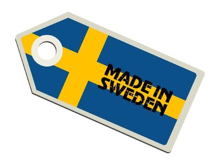 bandera de suecia: Fabricado en Suecia