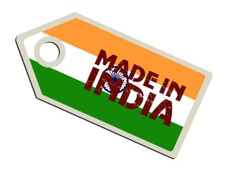 インド: インド製  イラスト・ベクター素材