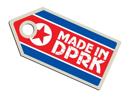 Made in North Korea Vetores