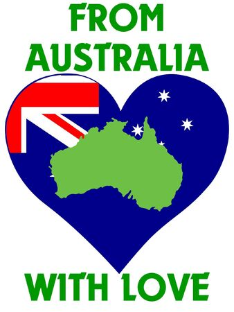 From Australia with love Vector