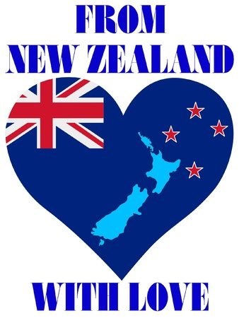 From New Zealand with love Vector