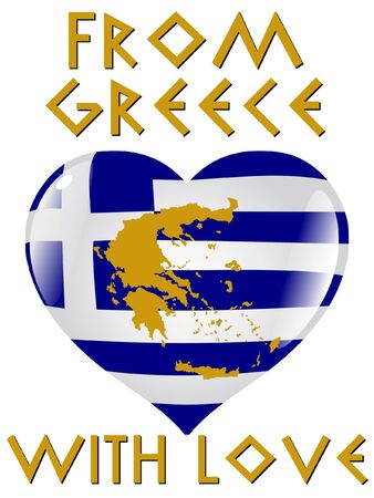 From Greece with love Vector