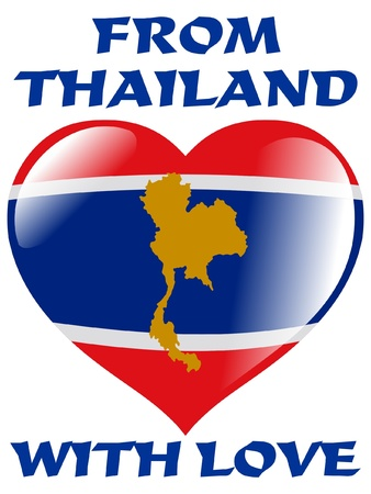 thai flag: From Thailand with love