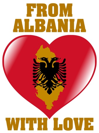 From Albania with love Vector