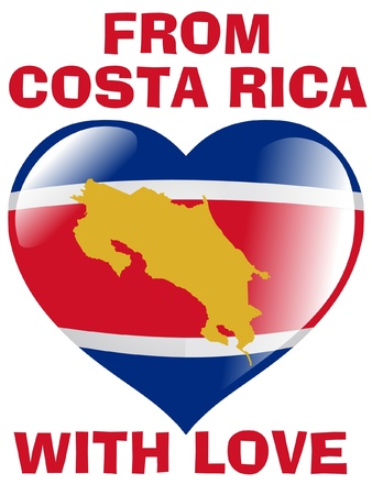 From Costa Rica with love Vector