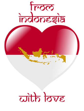 From Indonesia with love Vector