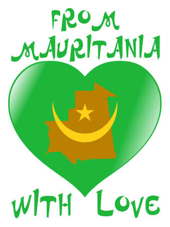 From Mauritania with love Vector