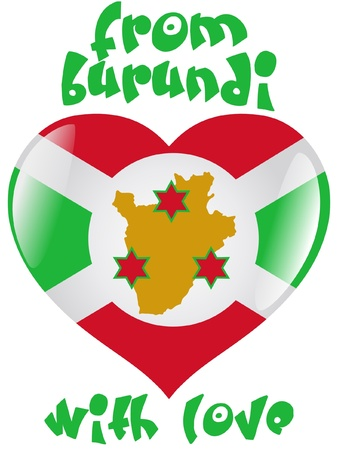 From Burundi with love Stock Vector - 11899548