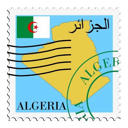algeria: mail tofrom Algeria Illustration