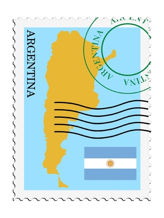 map of argentina: mail tofrom Argentina