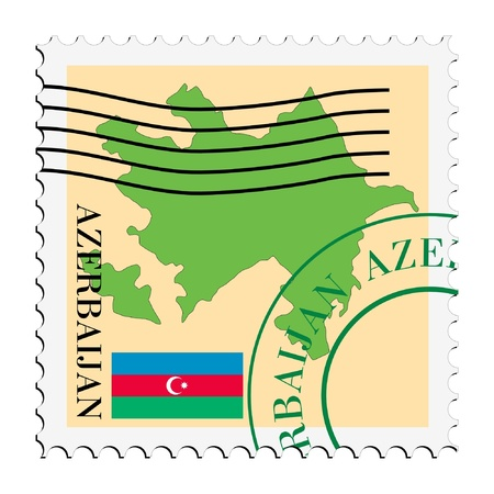 azerbaijan: mail tofrom Azerbaijan Illustration